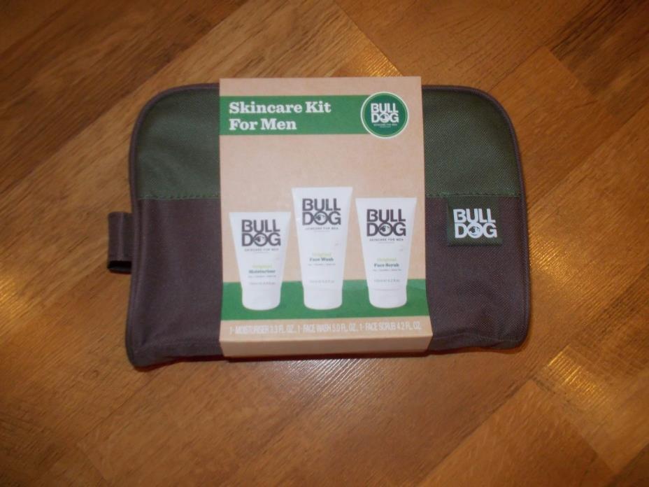 Bulldog Skincare Kit for Men in Travel Bag.   NWT