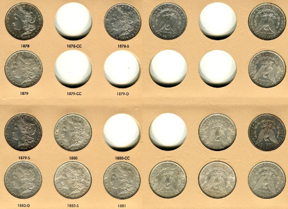 High Grade Silver Morgan Dollar Collection Lot of 61 w/ Rare Key Dates and 5 CC