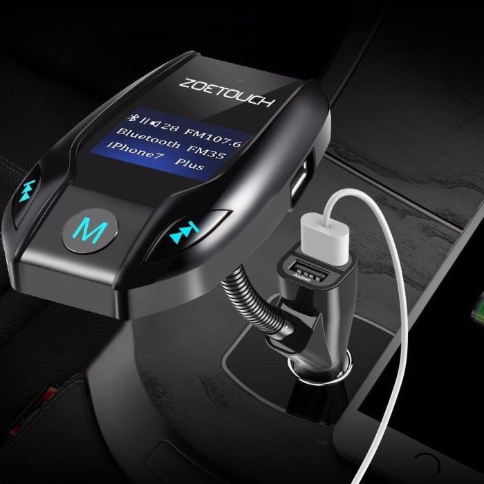 Bluetooth Car Radio FM Transmitter Hands-Free Wireless AudioReceiverAdapter