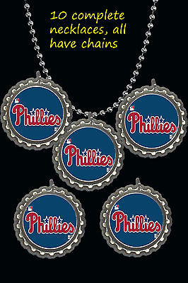 philadelphia phillies lot of 10 baseball necklaces necklace party favors