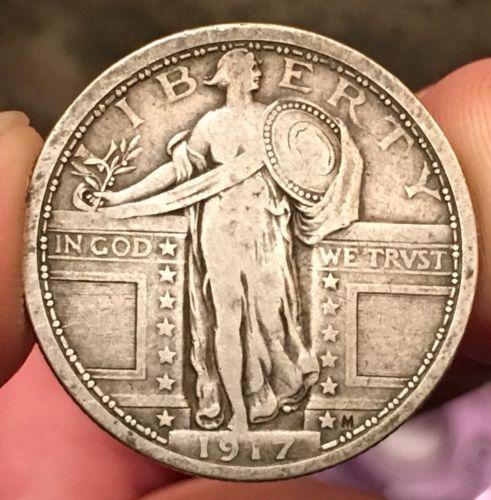 1917 Type 1 Standing Liberty Quarter 25C