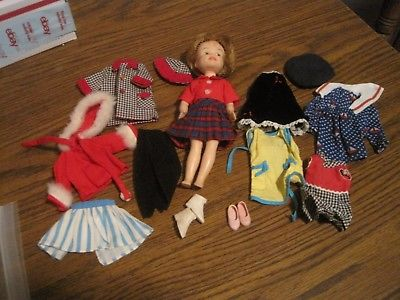VINTAGE IDEAL PENNY BRITE DOLL & CLOTHES LOT!