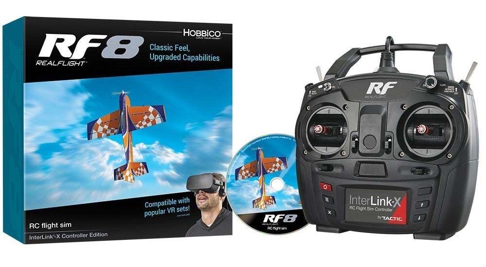 Great Planes RealFlight 8 Flight Sim w/ Interlink-X Controller (Mode 2) GPMZ4550