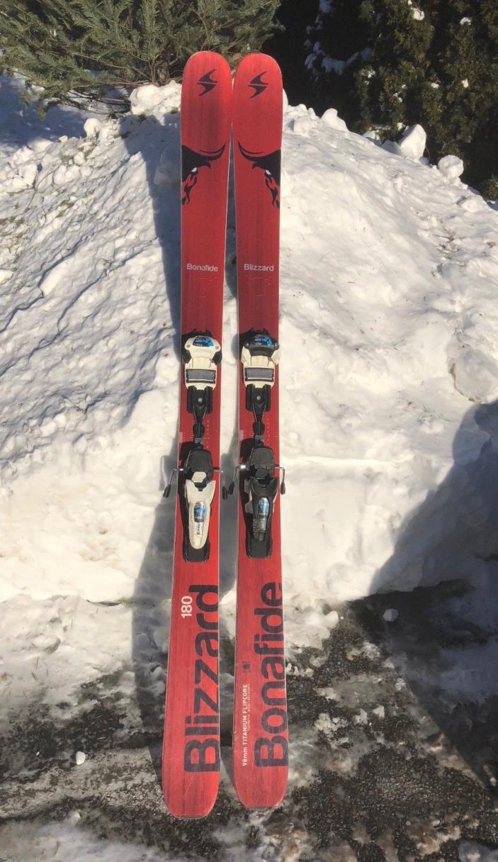 2015 Blizzard Bonafide 180 with Marker Griffon Schizo Bindings