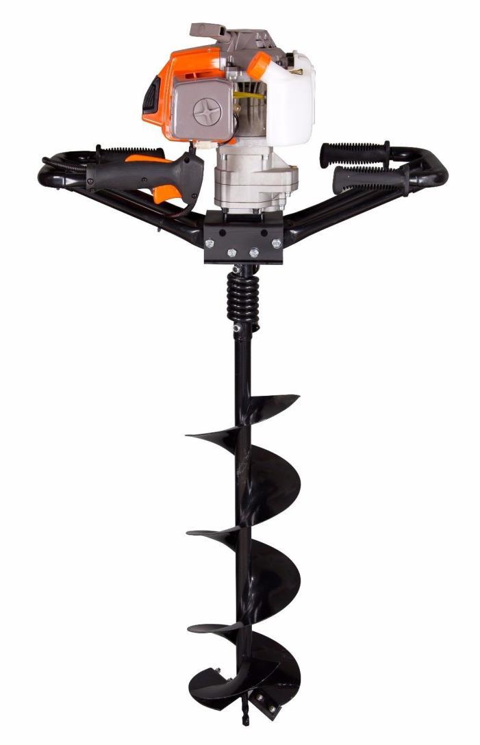 Brand New 3HP KASEI 63cc Earth Auger Single Man Gas EPA with  6
