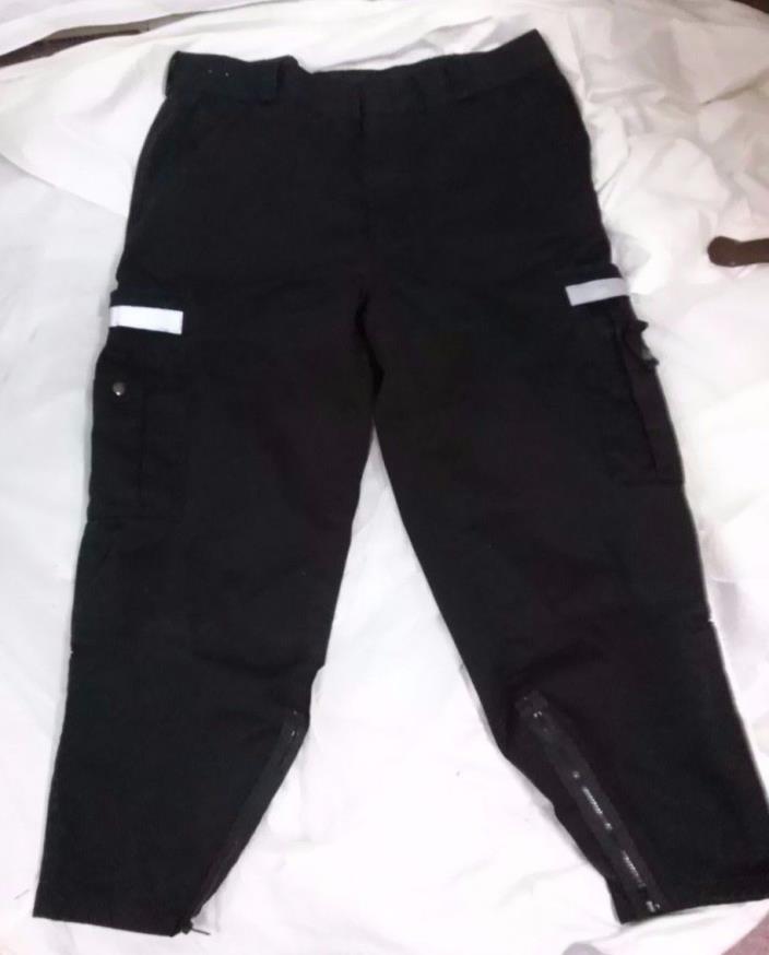 Spiewak men's work pants cargo reflective zip leg black size 40 X 29