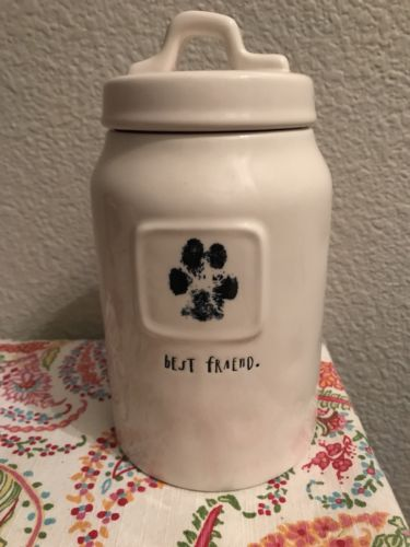 RAE DUNN MAGENTA BEST FRIEND DOG TREAT CANNISTER CONTAINER