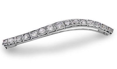 8 carat total Diamond Old European Cut Antique Art Deco Bar Pin Brooch