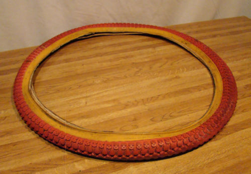 1980s VINTAGE RED MOUNTAIN BIKE TIRE 26X2.125 BMX OLD SCHOOL GT DYNO GARY FISHER