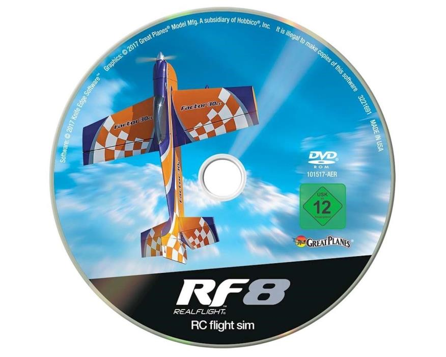 Great Planes RealFlight 8 Flight Simulator Upgrade Disk (Software Only) GPMZ4558