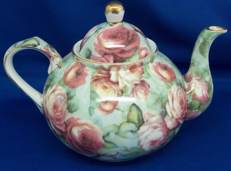 Rose Chintz Teapot