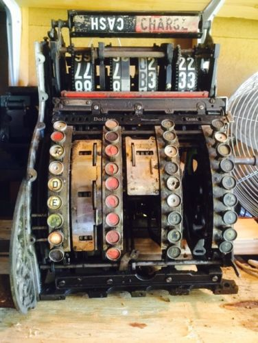 Antique National Cash Register Mechanism Model 442 For Parts