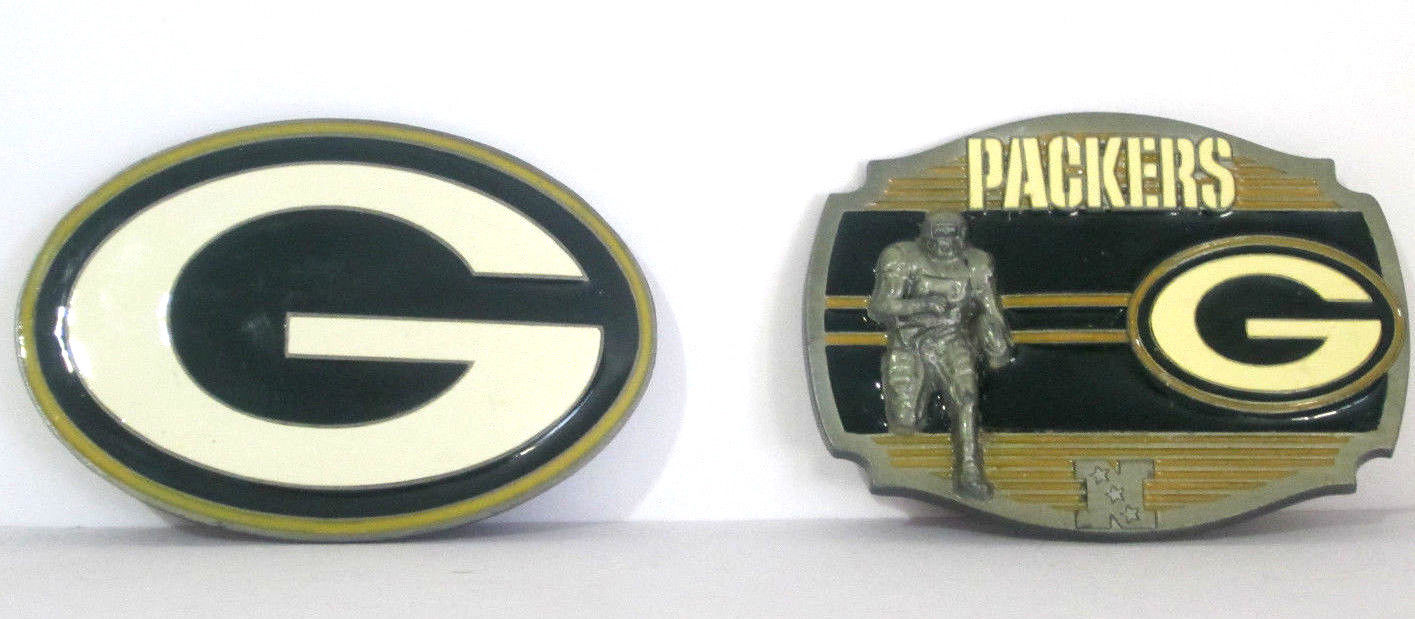 2 - Green Bay Packers Belt Buckles NFL Football Team