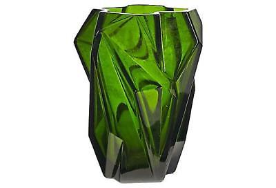 1920s Ruba Rombic Green Vase by Haley