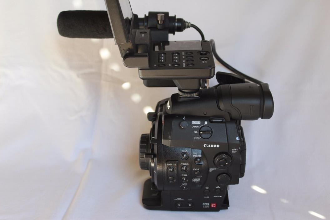 Canon C500 PL 4K EOS production camera for PL mount lens A+
