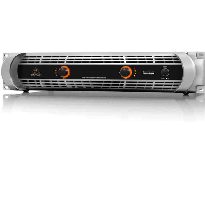 Behringer iNUKE NU-1000 1000W 2-Channel Amplifier Amp NU1000 in MINT CONDITION