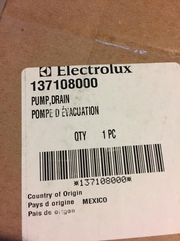 Frigidaire Electrolux 137108000 Washing Machine Drain Pump