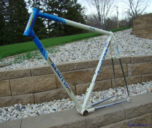 VINTAGE BENOTTO COLUMBUS TUBING ROAD BICYCLE FRAME CAMPAGNOLO REAR ITALY TRACK