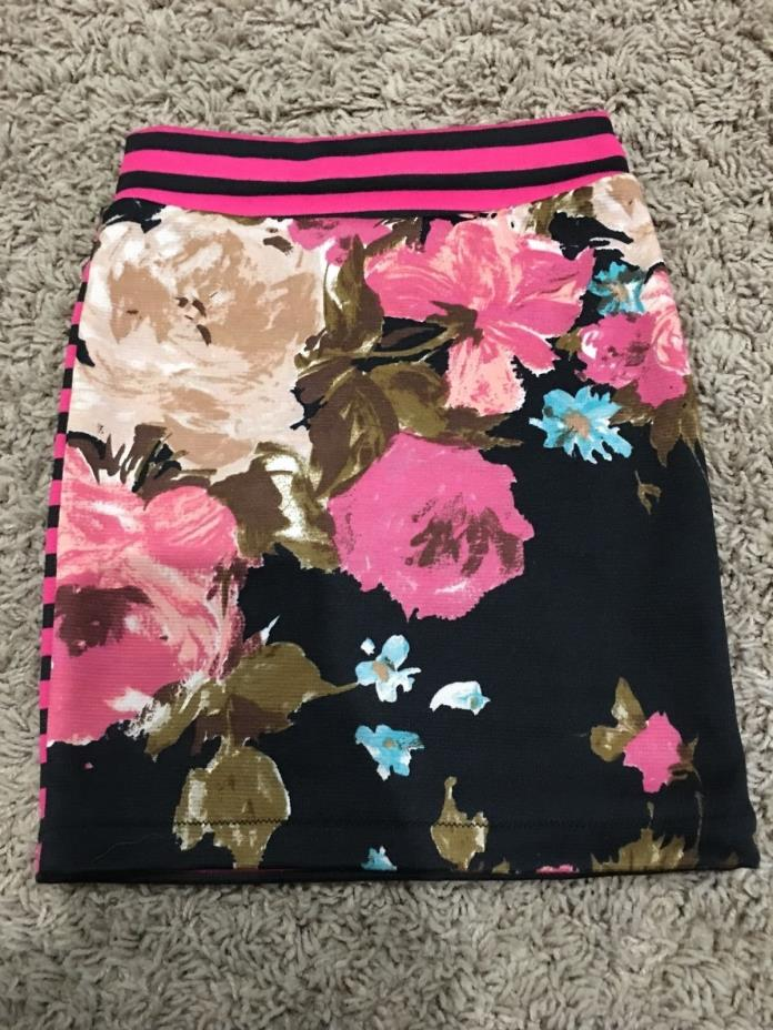 Skirt girls toddler stripe floral 4t