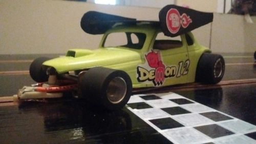 1/24 modified Chevy coupe sprint car slot car