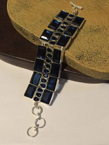 Quartz Sapphire Color Bracelet 7-9
