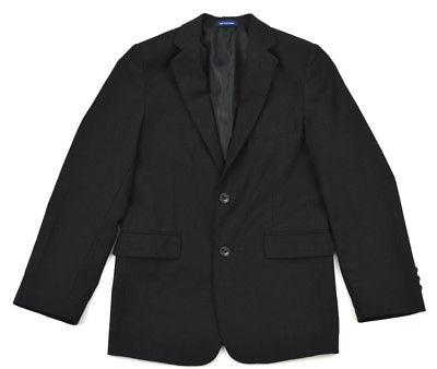 CHAPS Boy's Handsome Black 2-Btn Notch Lapel Wool Sportcoat Blazer Jacket ~ 12R