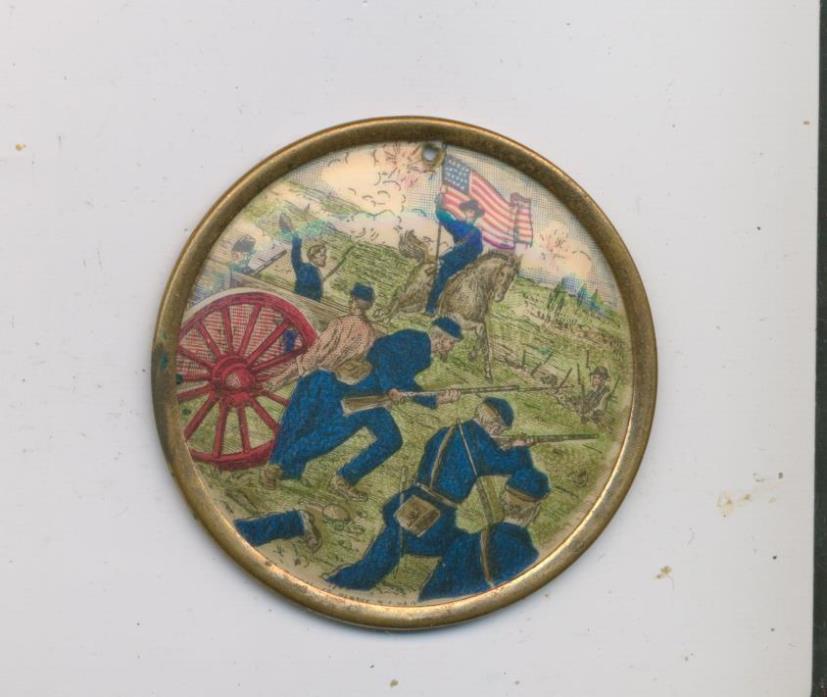 Civil War Antique vtg Button Badge Whitehead & hoag 1894