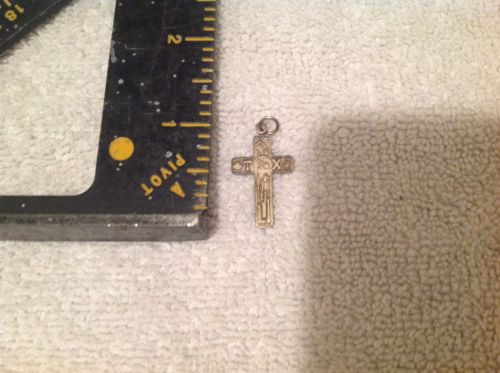 Vintage Sterling Chapel Cross Pendant, TX Themed,