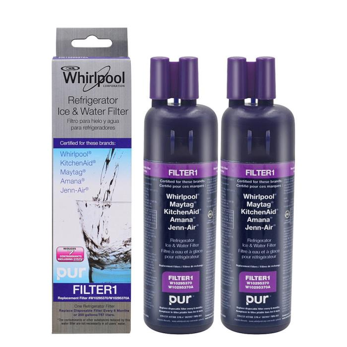 2Packs Whirlpool W10295370A FILTER1 EDR1RXD1 Refrigerator Water Filter by PUR