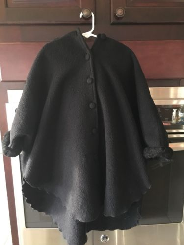 Toddler Girls Mondays Child Black Dress Coat (4T)