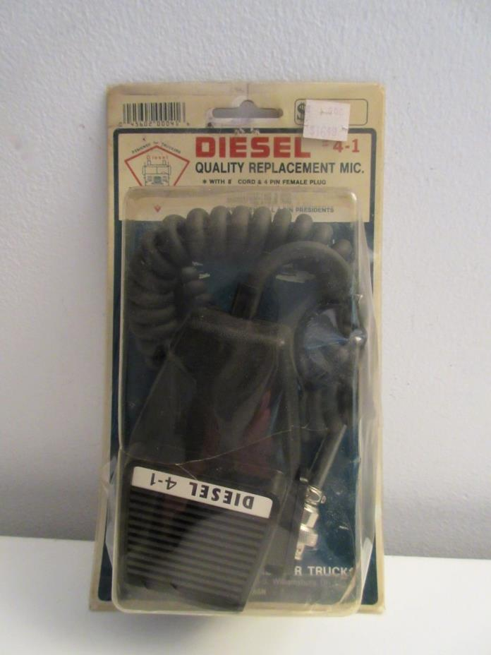 Vintage Diesel Electronics #4-1 CB Radio Mic/Microphone NOS