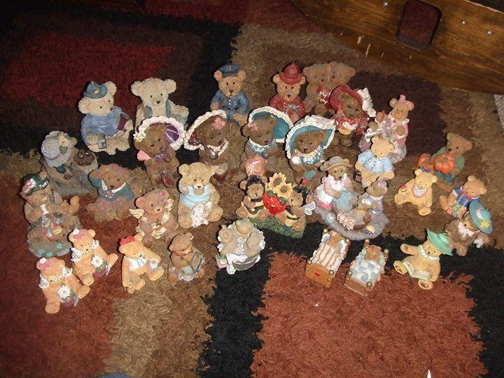 large lot (52) bear figurines  BOYDS  BRONSON HOME INTERIORS JANET KRUSKAMP