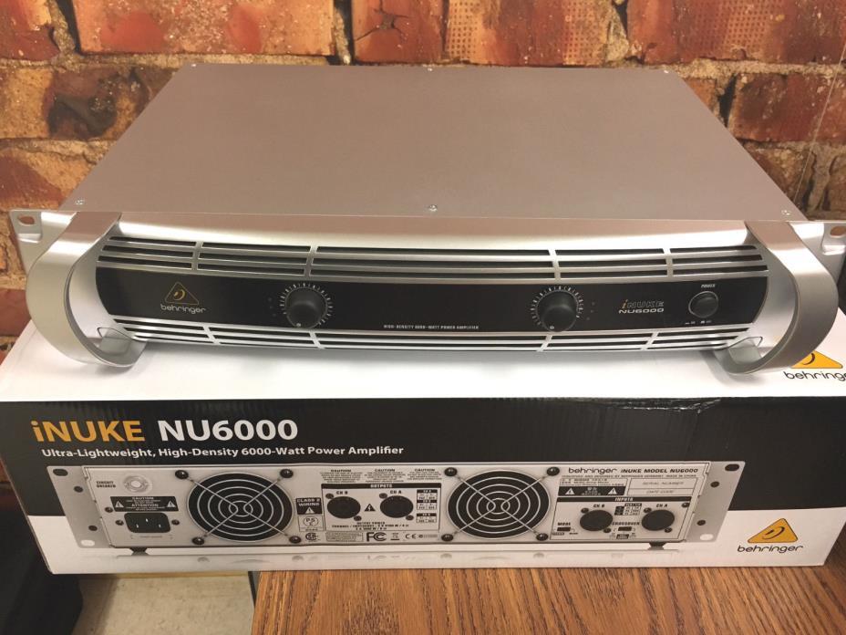 Behringer iNUKE NU-6000 6200W 2-Channel Amplifier Amp NU6000 *MINT CONDITION*