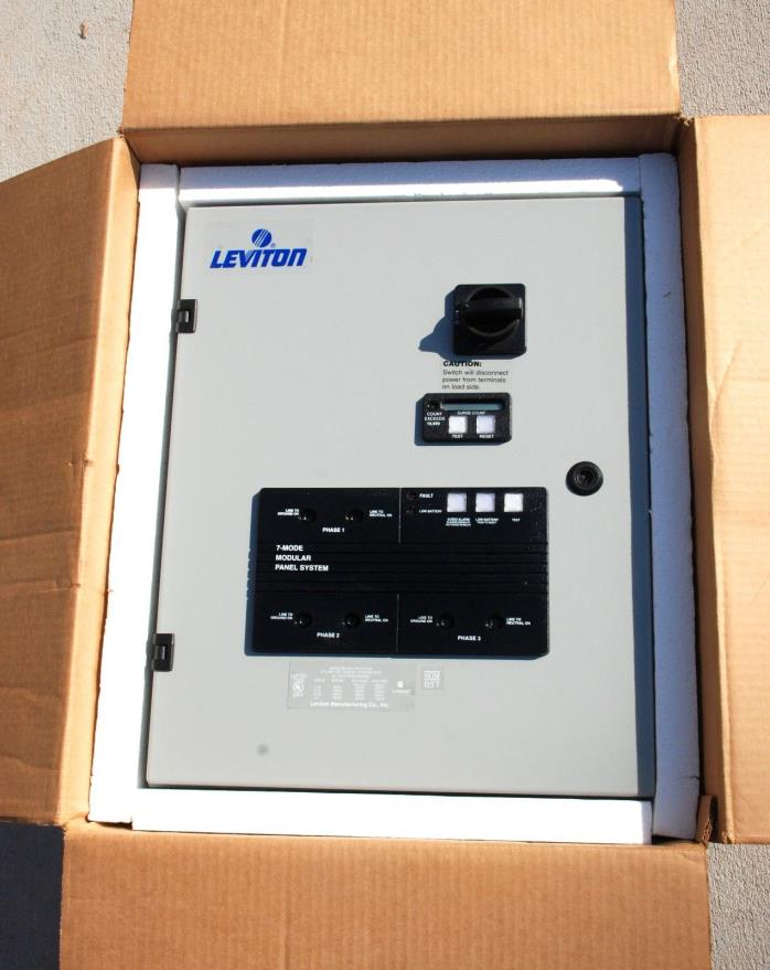 Leviton 57277-C3S Surge Protected Panel 277 / 480 Volt 3 Phase 7 Mode Protection