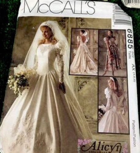 Simplicity Sewing Patterns Butterick Women's Wedding Dress Lot Of 6 Vintage