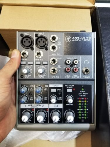 Mackie 402-VLZ3 Premium 4-Channel Ultra-Compact Mixer - Never Used