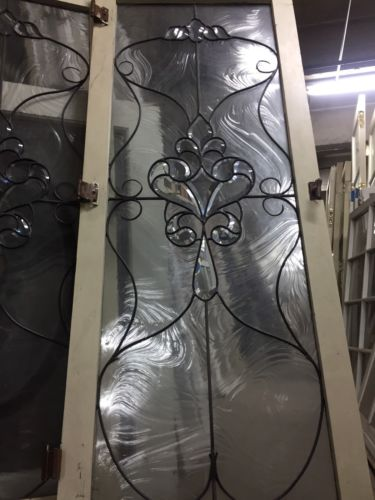 Double Pane Leaded Glass Window with Flowers 24