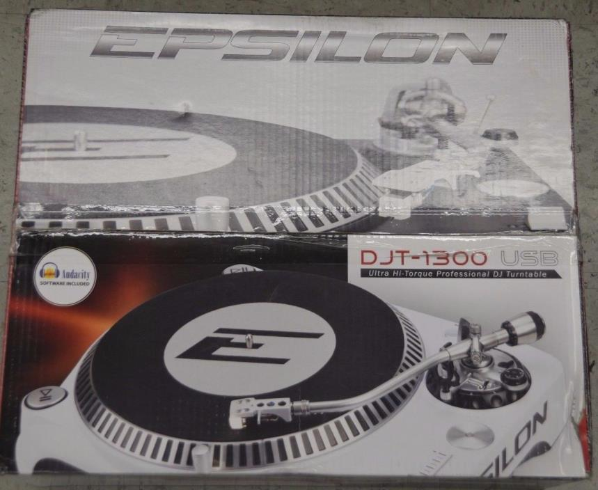 Epsilon - DJT-1300USB - PRECISION POWER Hi Torque Pro DJ Turntable - Silver