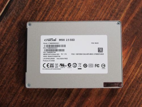 """Crucial 480GB M500 2.5"""" SATA SSD - SOLID STATE DRIVE CT480M500SSD1"""