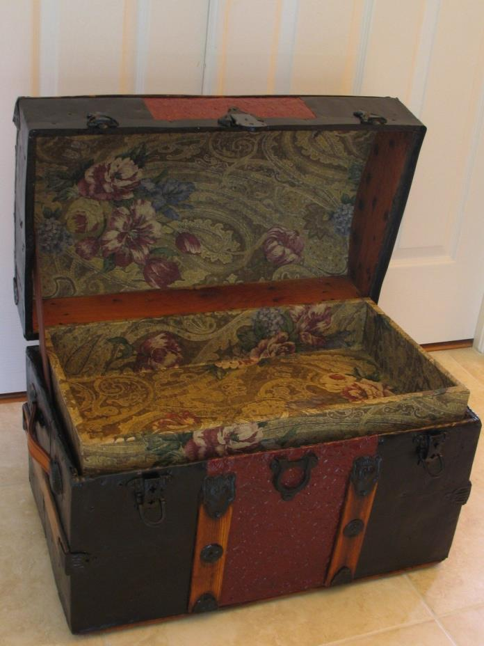 Antique ca.1885 Dome Top Stagecoach Steamer Trunk