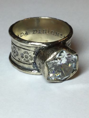 Silpada Sterling Silver Queen For A Day Huge CZ Ring Size 10.5 R2208