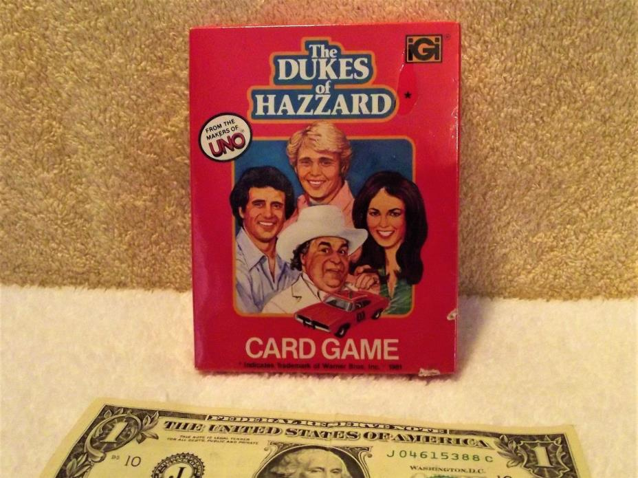 1981 Warner Bros The Dukes of Hazzard Card Game Sealed