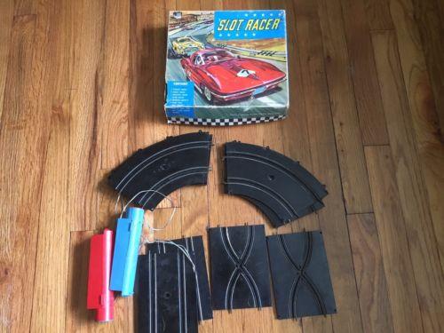 Vintage PMC Slot Car Track Slot Racer Parts Lot