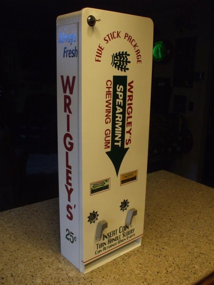 Wrigley's double column chewing gum vending machine diner arcade gum
