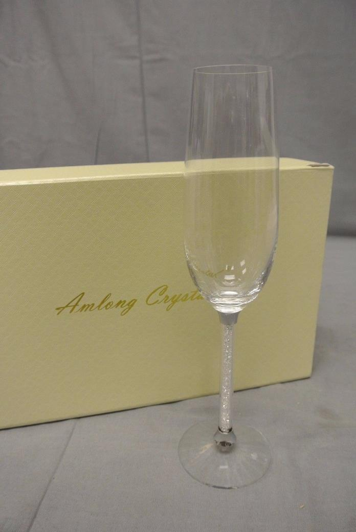 Amlong Crystal Wedding Champagne Flutes Glasses, SINGLE FLUTE --- *K14*