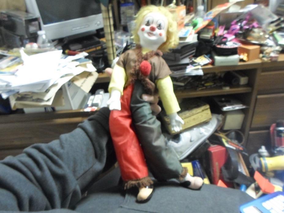 Vintage Porcelain Musical Clown Doll