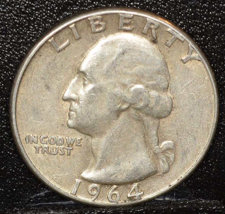 1964 Washington SILVER Quarter  Inv. Q031