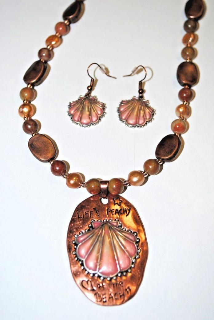 Copper Autumn Jasper Handcrafted Necklace