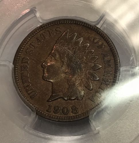 1908-S 1C BN Indian Head Cent PCGS VF35