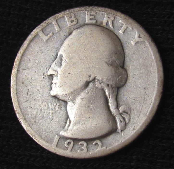 1932 D WASHINGTON QUARTER - VG+ DETAILS #16076
